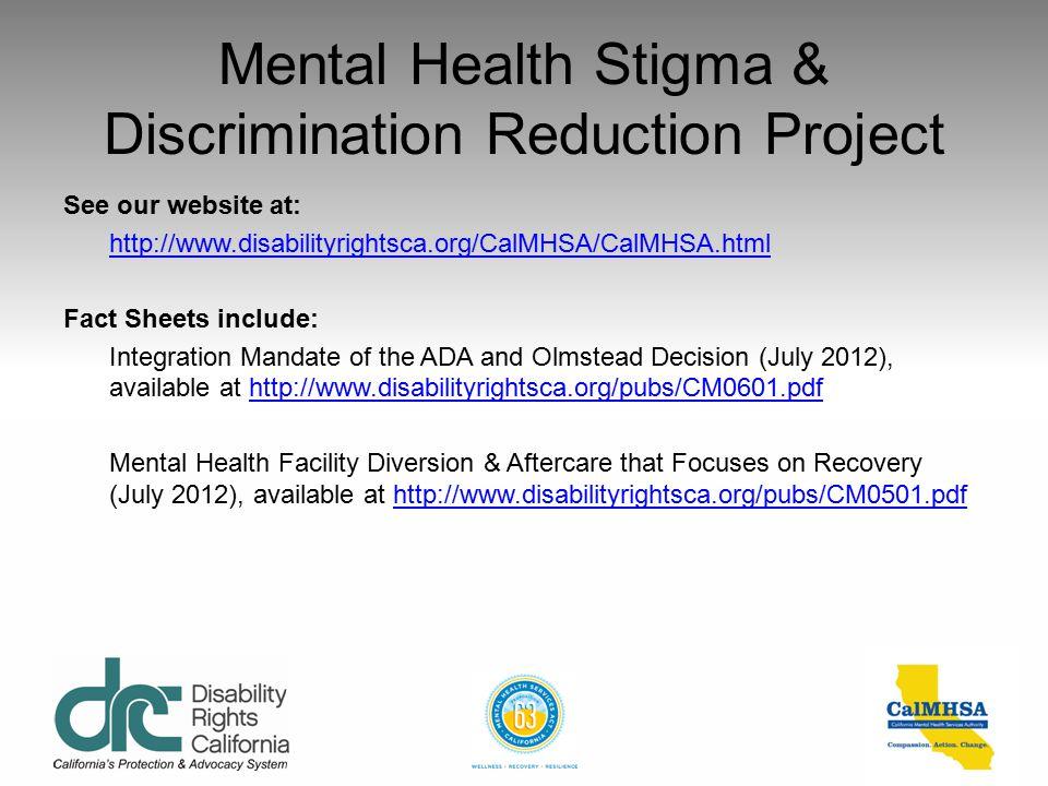 Mental Health Stigma & Discrimination Reduction Project
