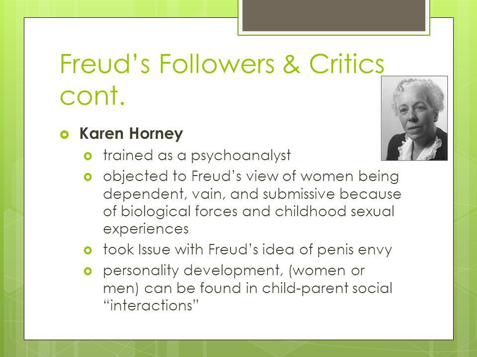 Freud's Followers & Critics cont.