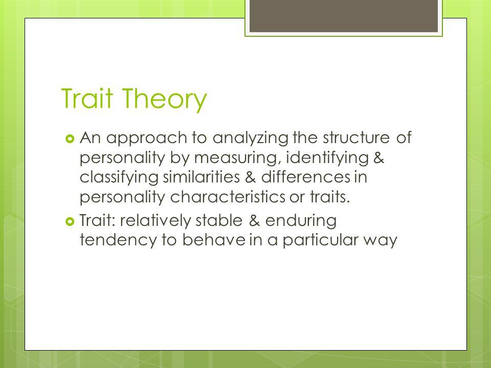 Trait Theory