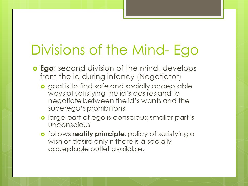 Divisions of the Mind- Ego