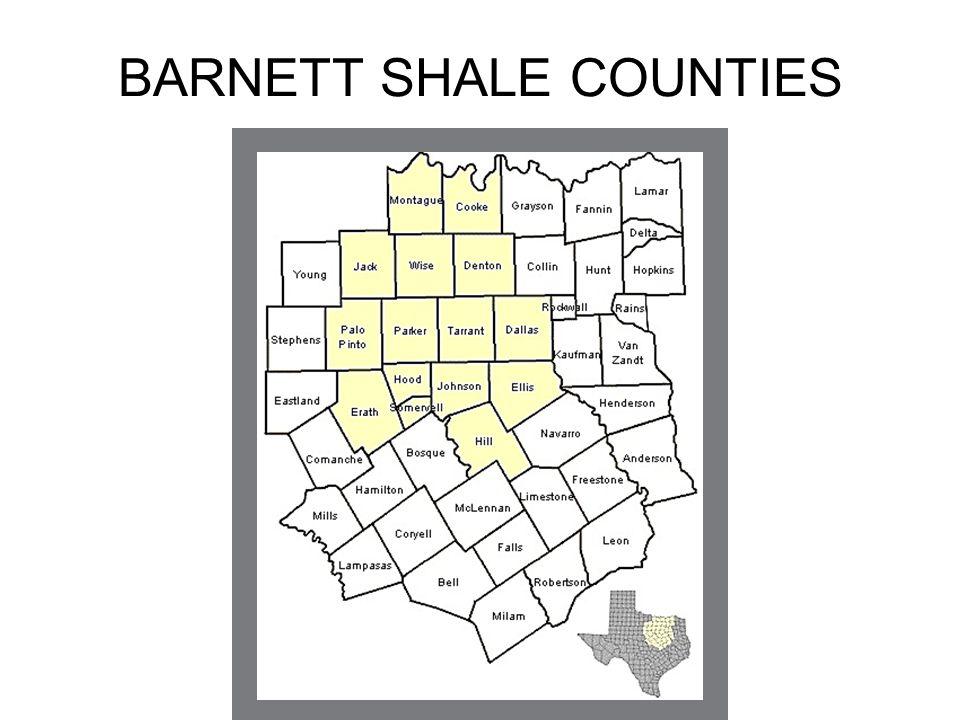 Barnett Shale Counties