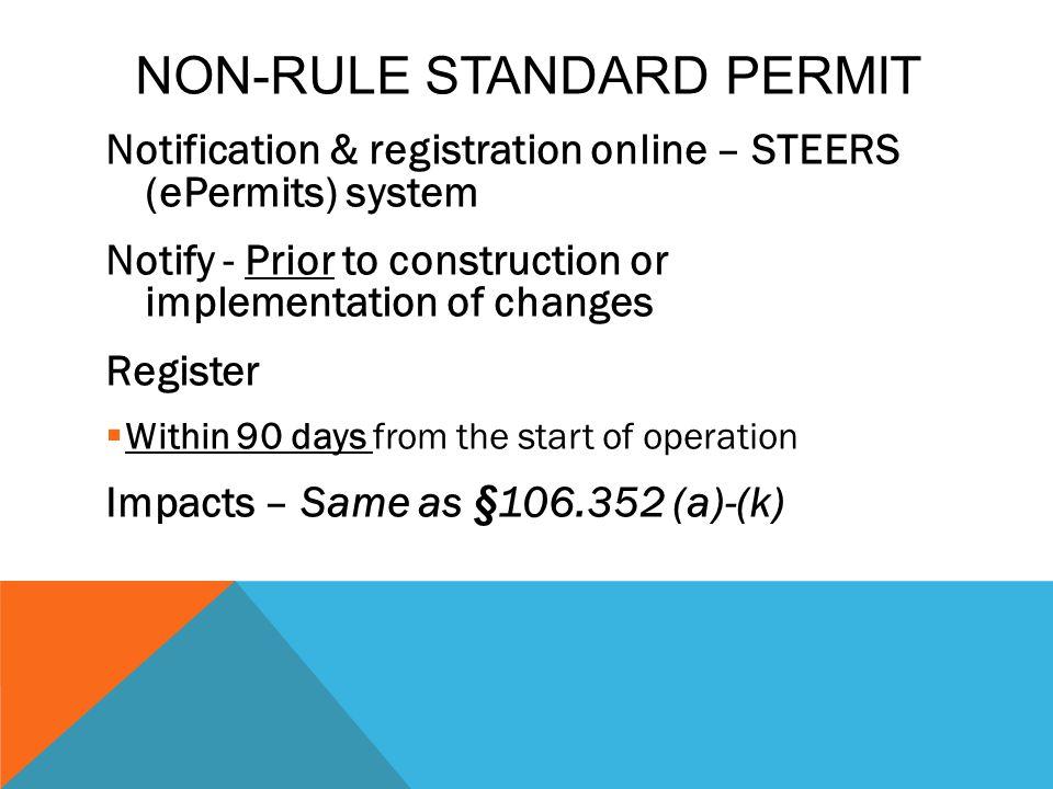Non-Rule Standard Permit