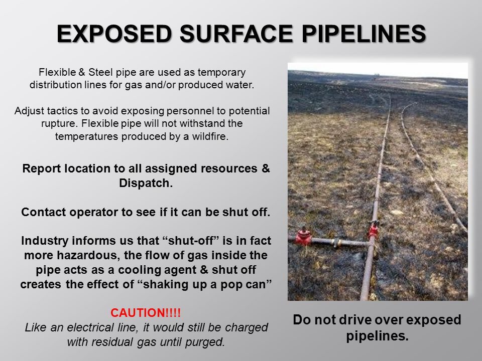 EXPOSED SURFACE PIPELINES