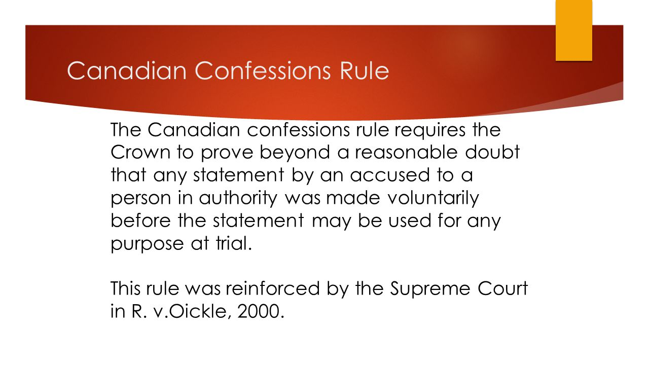 Canadian Confessions Rule