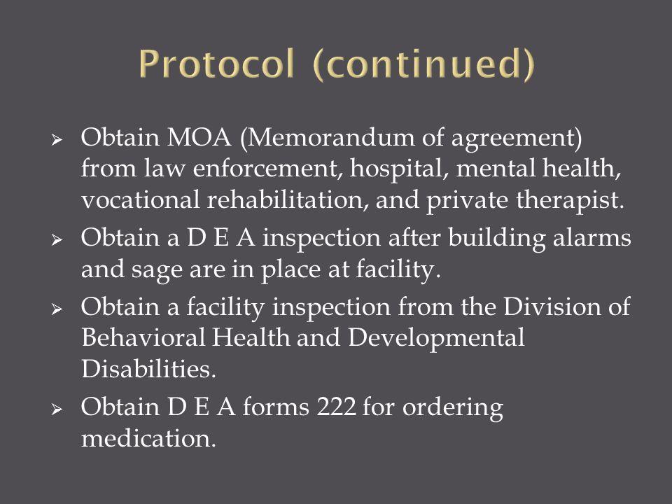 Protocol (continued)