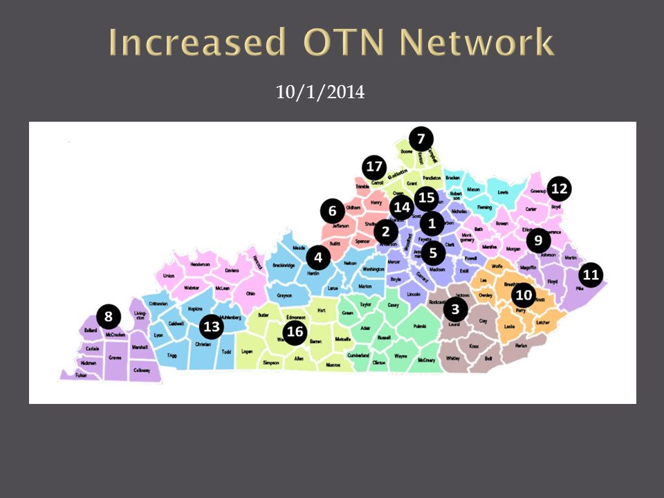 Increased OTN Network 10/1/2014