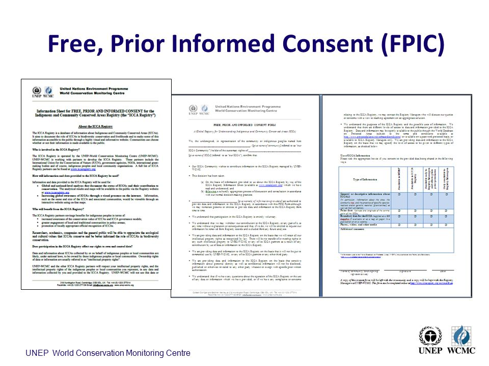 Free, Prior Informed Consent (FPIC)