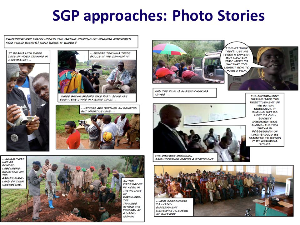 SGP approaches: Photo Stories