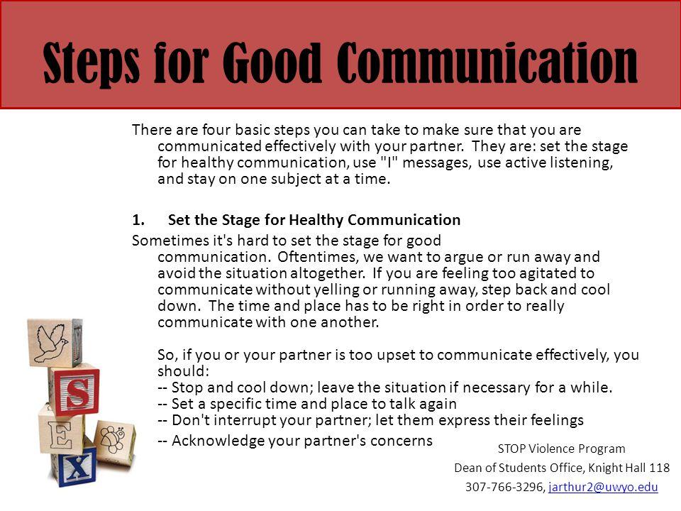 Steps for Good Communication