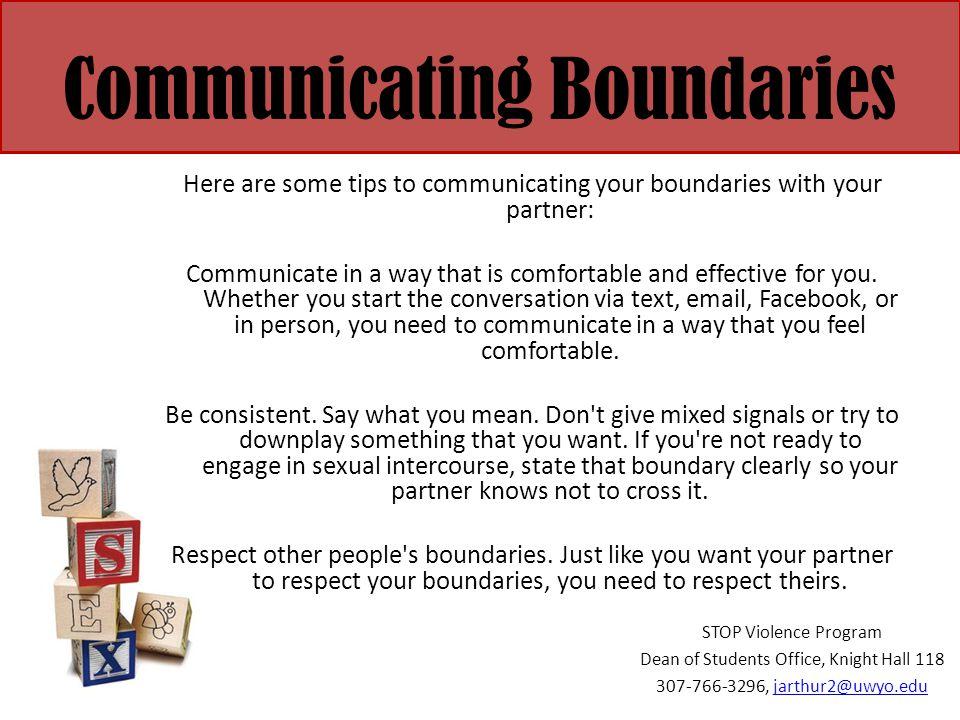 Communicating Boundaries