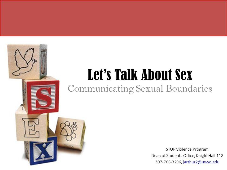 Communicating Sexual Boundaries