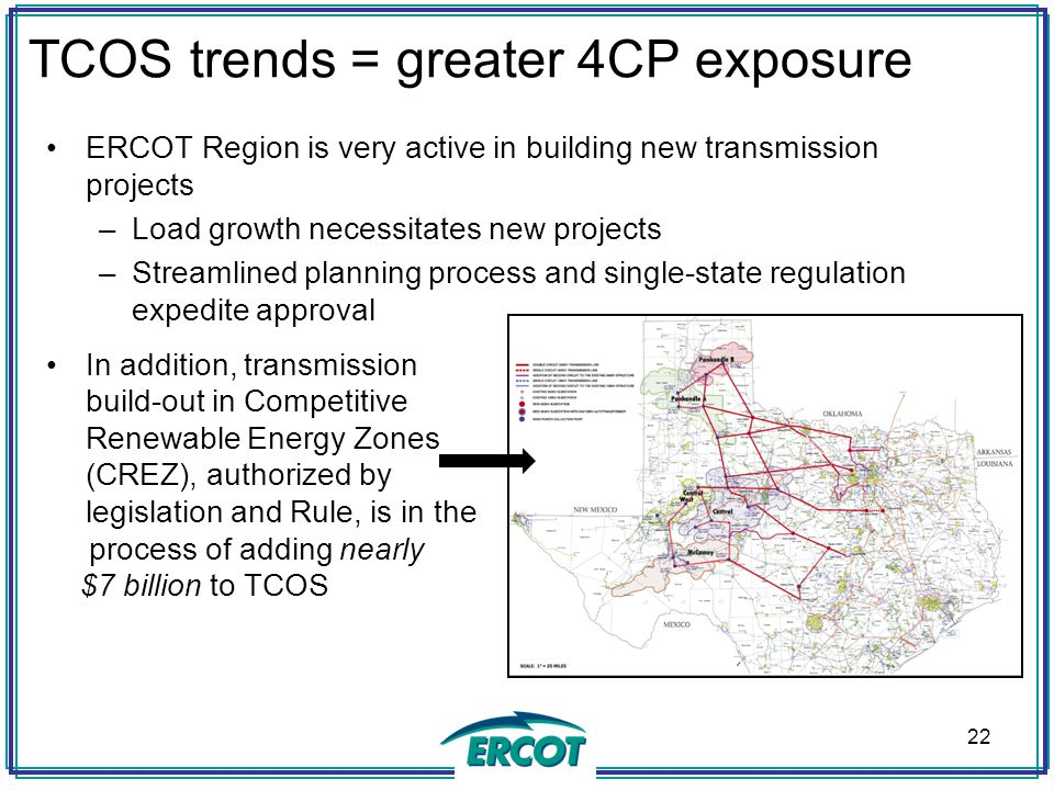 TCOS trends = greater 4CP exposure
