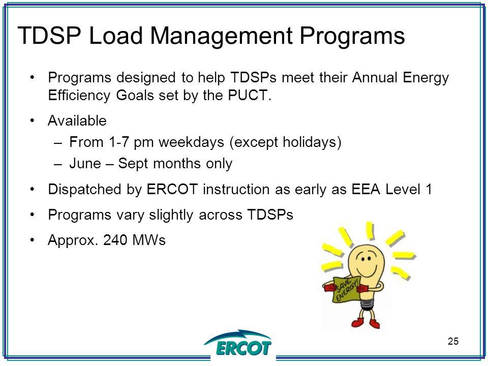 TDSP Load Management Programs