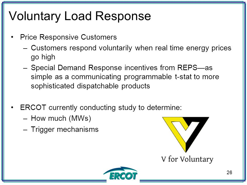 Voluntary Load Response