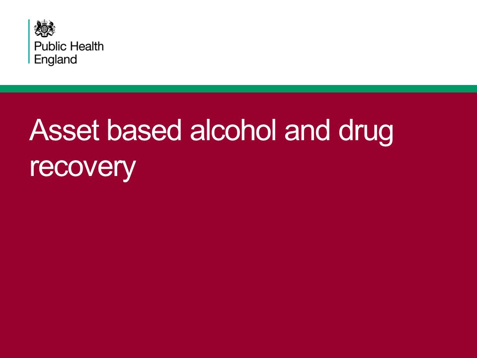 Asset based alcohol and drug recovery