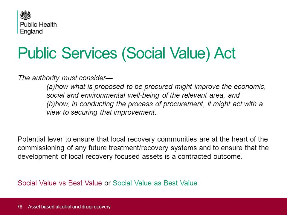 Public Services (Social Value) Act