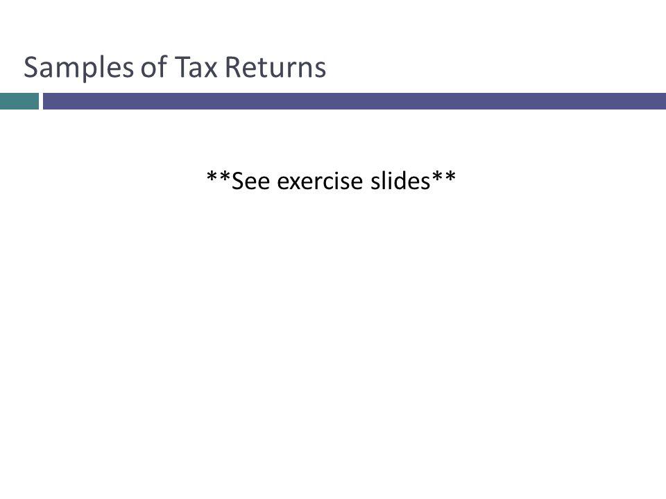 **See exercise slides**