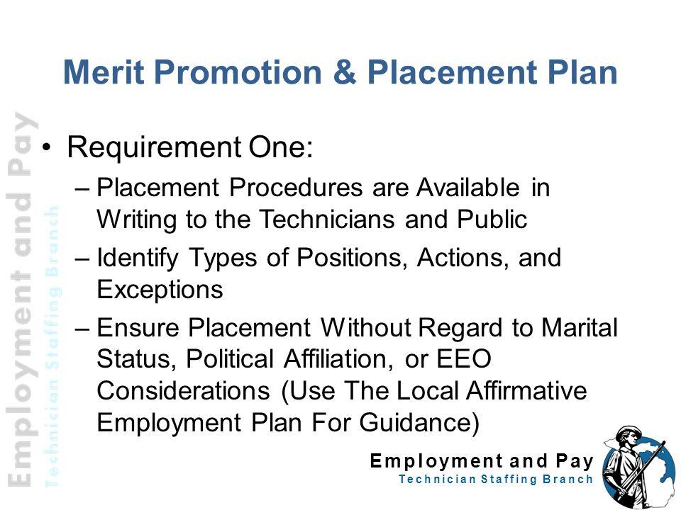 Merit Promotion & Placement Plan