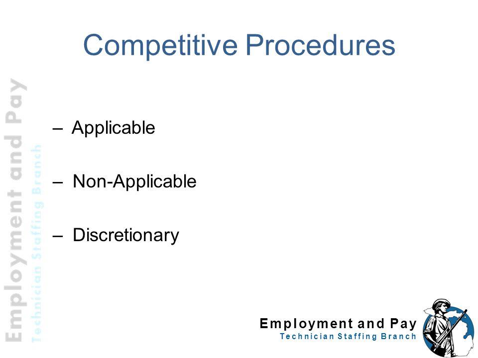 Competitive Procedures