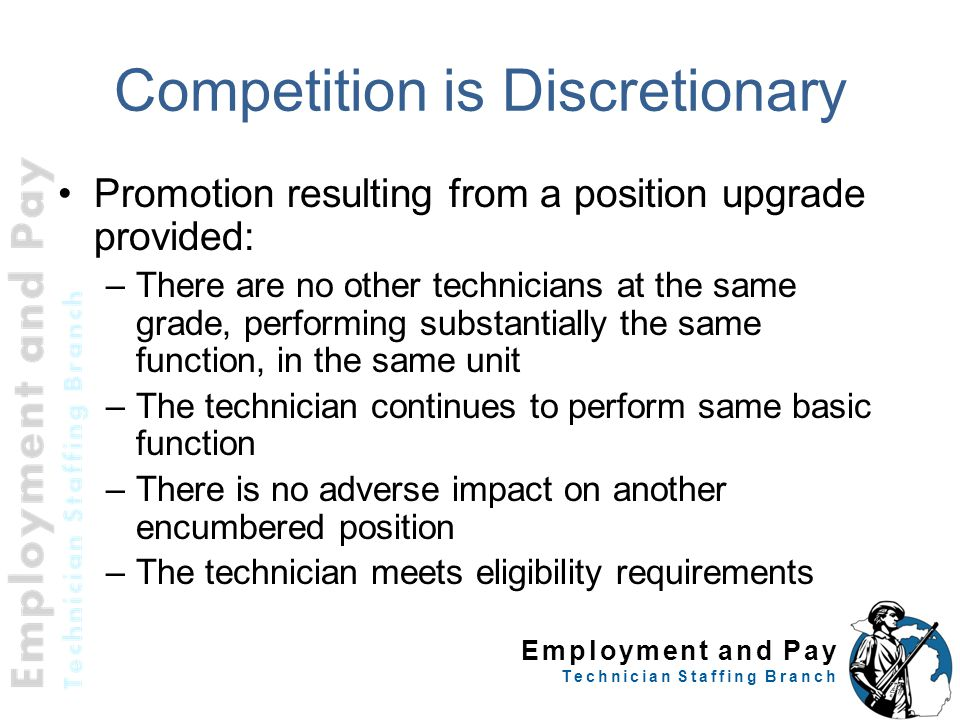 Competition is Discretionary