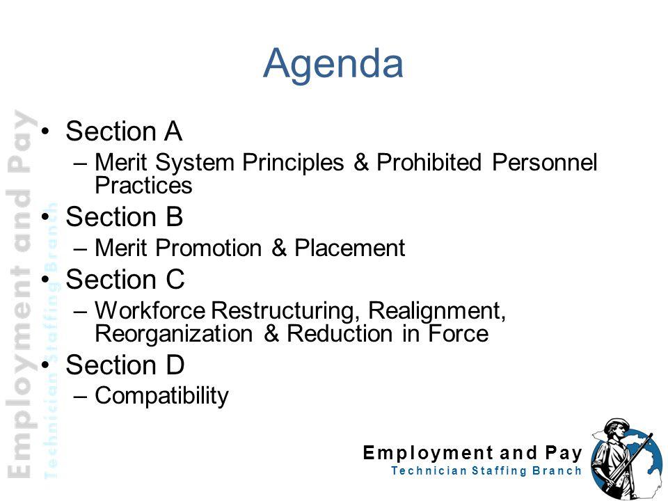 Agenda Section A Section B Section C Section D