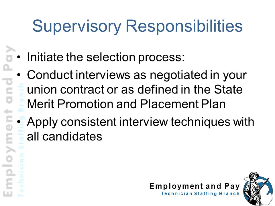 Supervisory Responsibilities