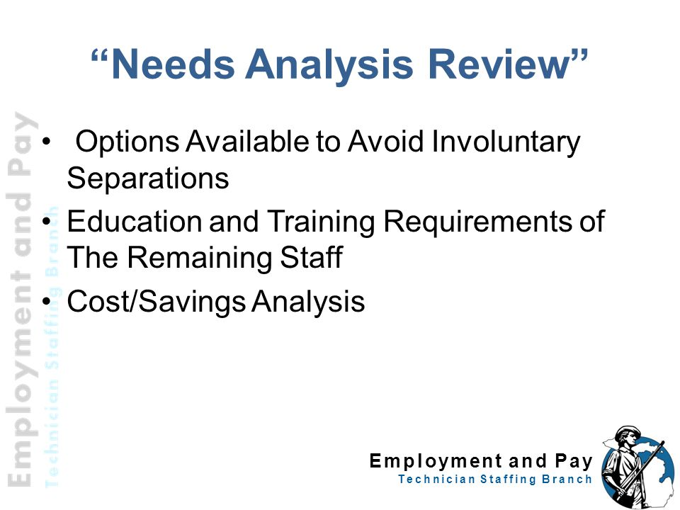 Needs Analysis Review
