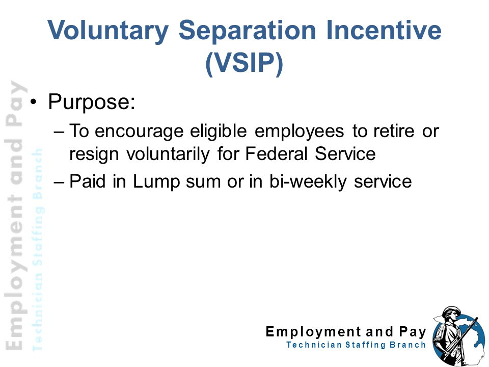 Voluntary Separation Incentive (VSIP)