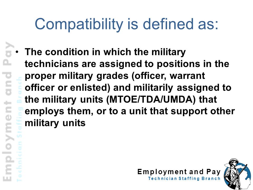 Compatibility is defined as: