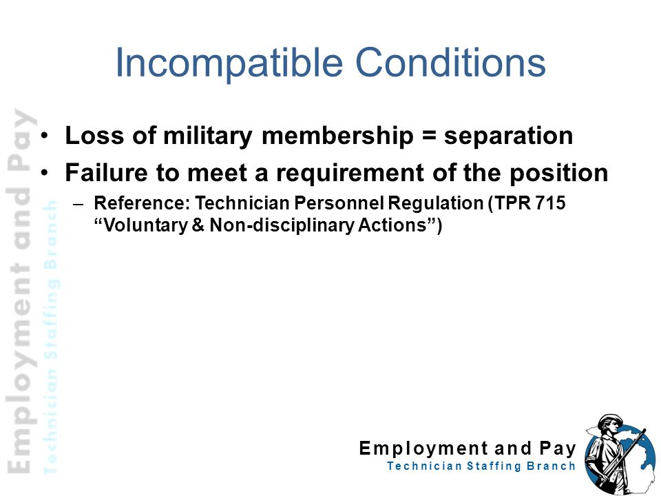 Incompatible Conditions