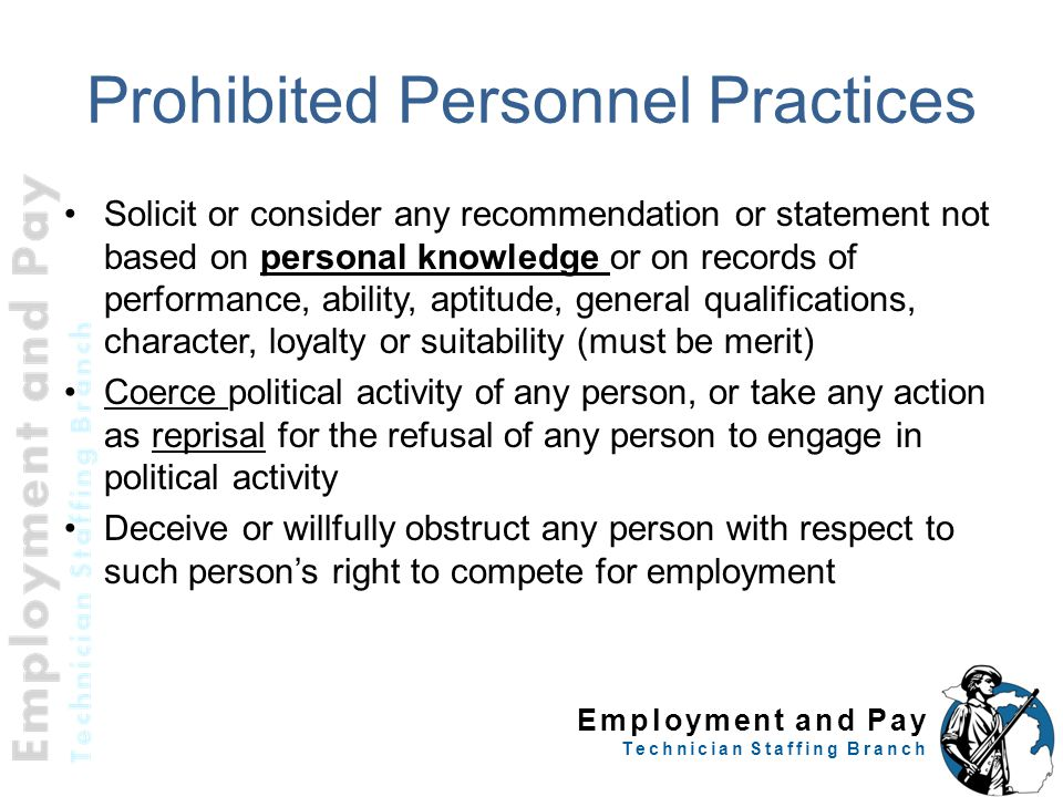 Prohibited Personnel Practices