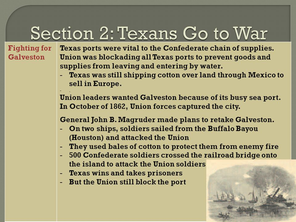 Section 2: Texans Go to War