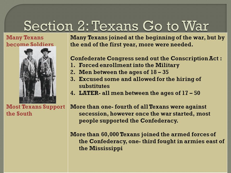 the reasons why texas fought in the war against the union Why because, the civil war western states and territories fought to preserve the union main reasons and the first one was economic.