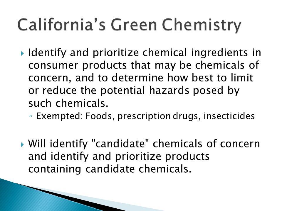 California's Green Chemistry