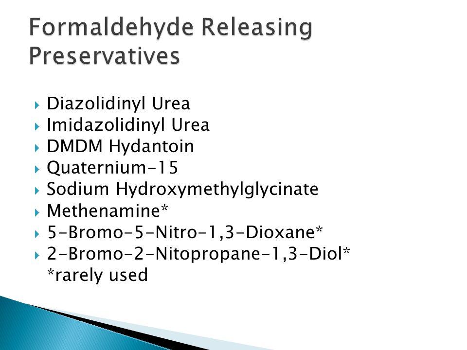 Formaldehyde Releasing Preservatives