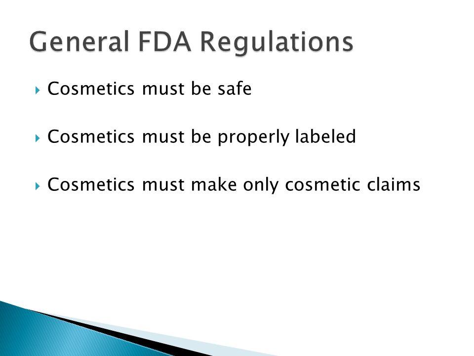 General FDA Regulations