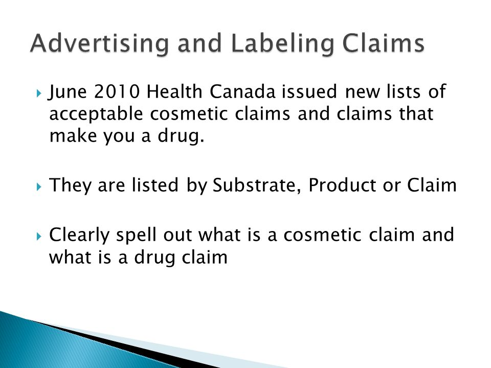 Advertising and Labeling Claims