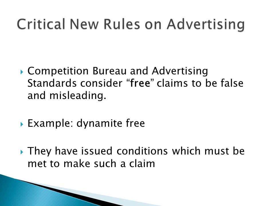 Critical New Rules on Advertising