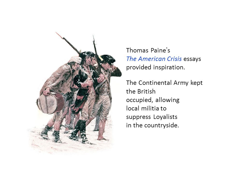 Thomas Paine's The American Crisis essays provided inspiration.