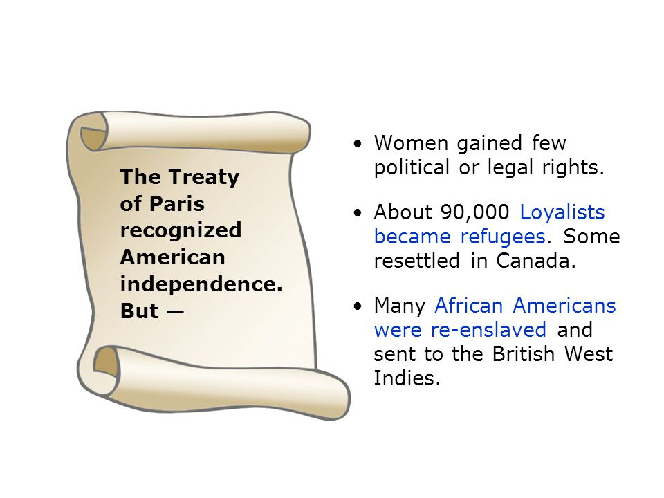 Women gained few political or legal rights.