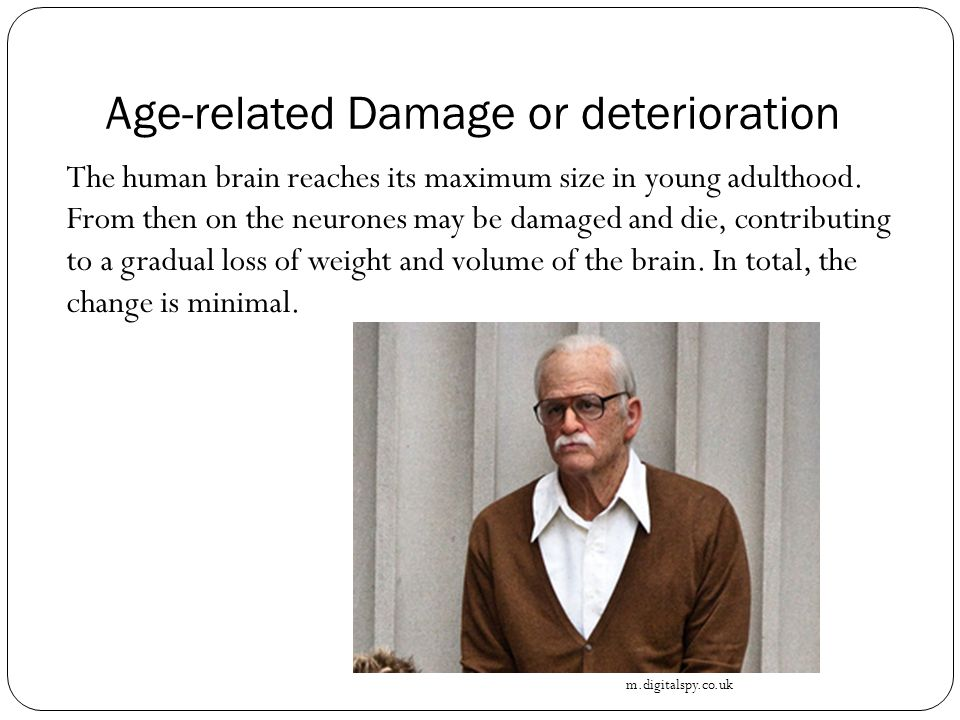 Age-related Damage or deterioration