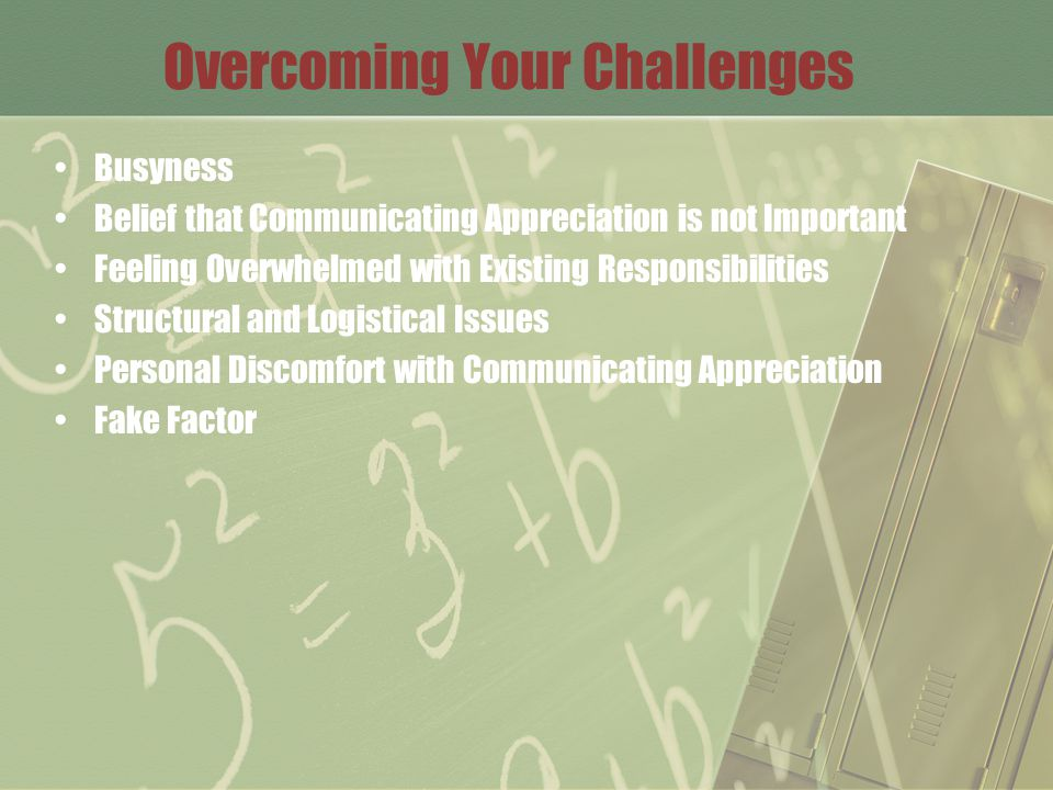 Overcoming Your Challenges