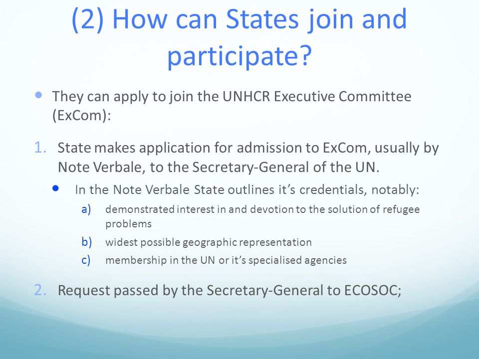 (2) How can States join and participate