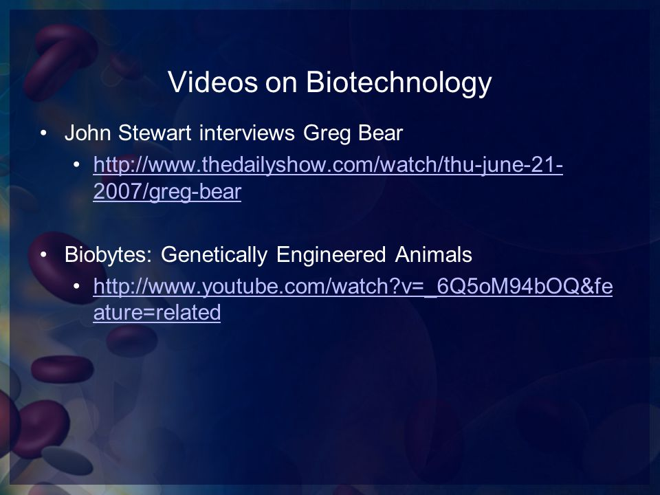 Videos on Biotechnology