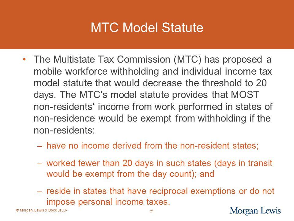 MTC Model Statute