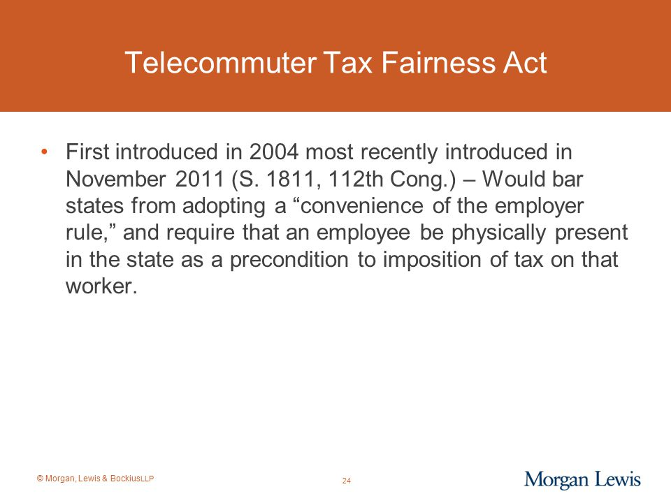 Telecommuter Tax Fairness Act