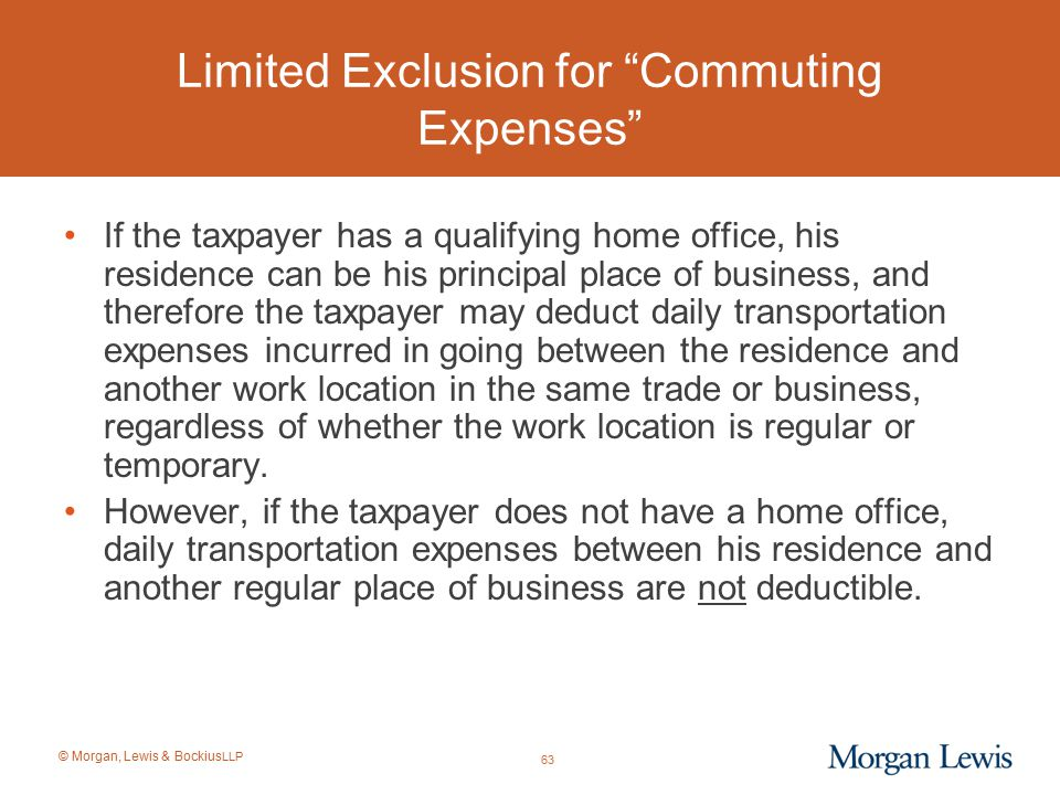 Limited Exclusion for Commuting Expenses