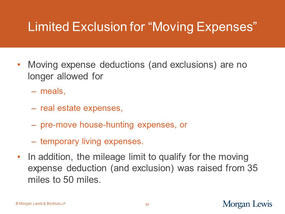 Limited Exclusion for Moving Expenses