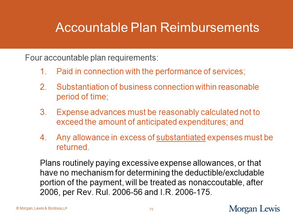 Accountable Plan Reimbursements