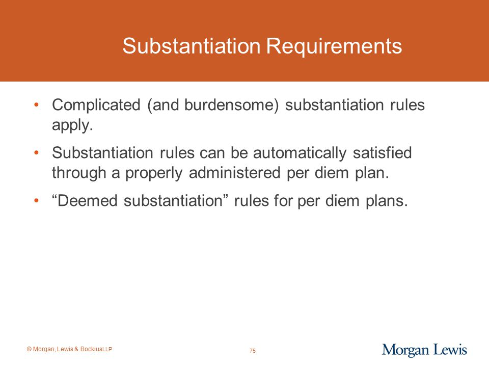 Substantiation Requirements